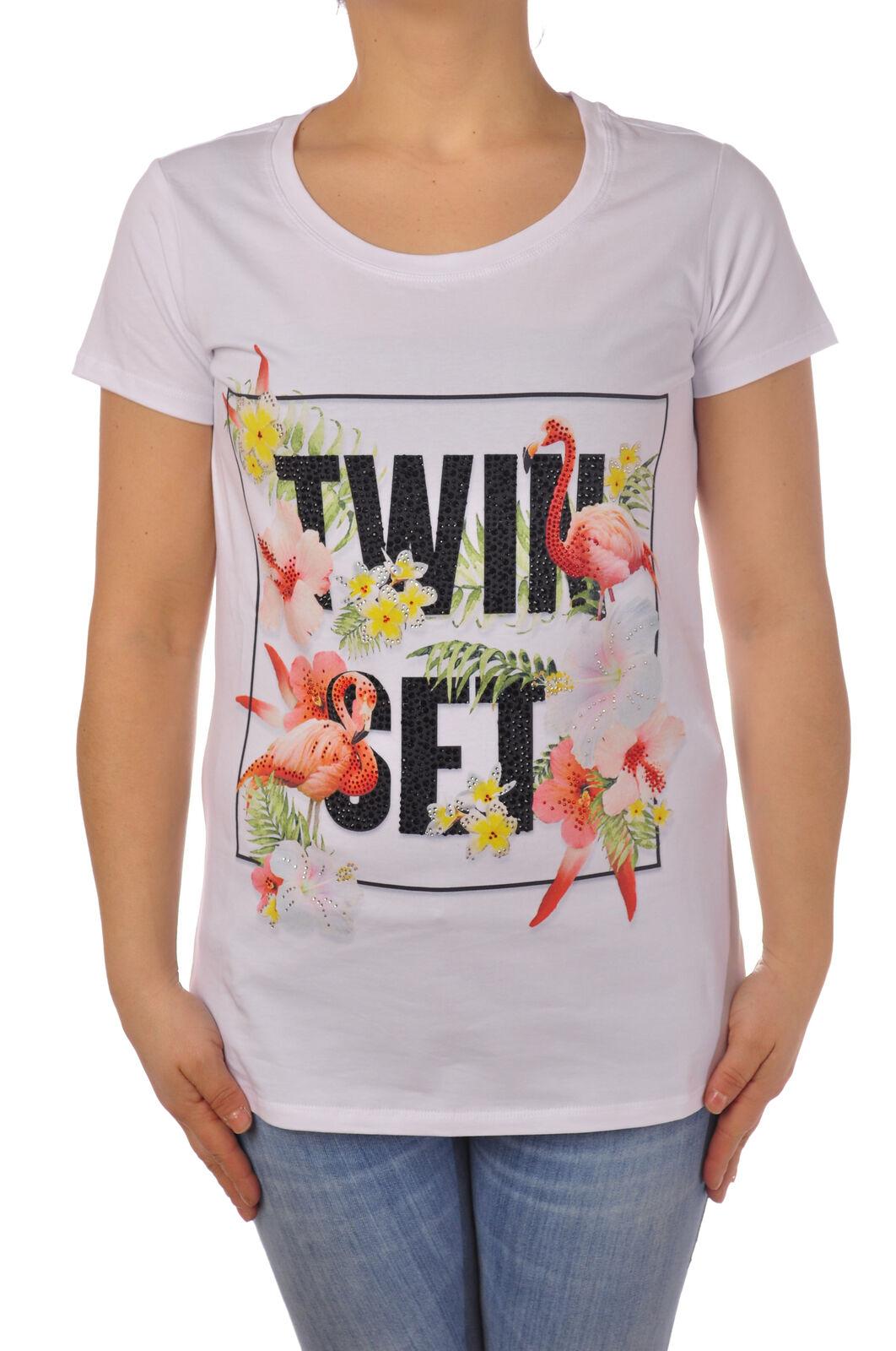 Twin Set - Topwear-T-shirts - Woman - Weiß - 5084731G184625