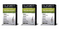 3X NuHair DHT Blocker Hair Regrowth Formula Men Women Nu Hair 3x60 Tabs 3-Pack