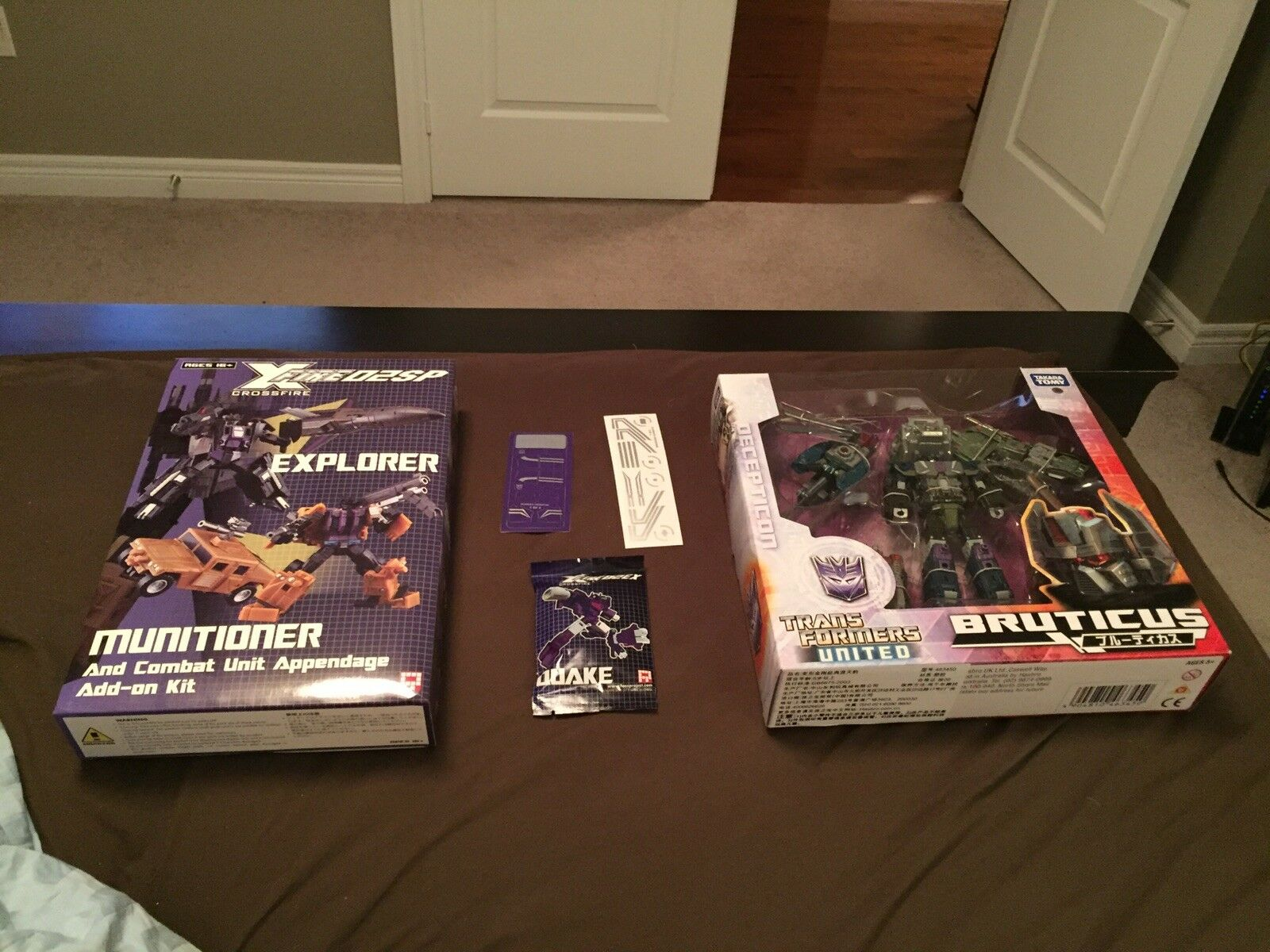 Transformers United Bruticus Fansproject Crossfire Upgrade Quake Quake Quake Reprolabels New 414c98