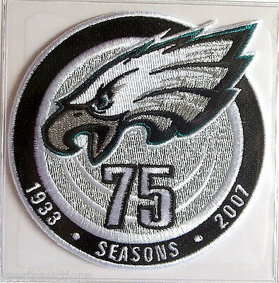 PHILADELPHIA EAGLES 75th ANNIVERSARY NFL PATCH STAT CARD Willabee Ward WORN 2007