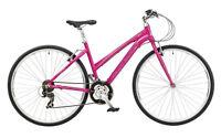 Claud Butler Urban 200w Ladies 700c 21 Speed Alloy Sports Hybrid Bike Cycle Pink