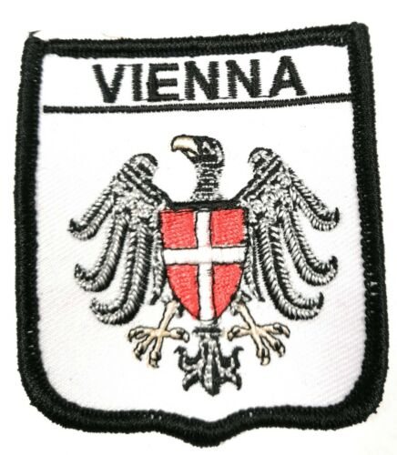 FREE UK P/&P Vienna on Shield Embroidered Sew on patch