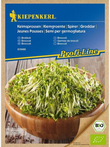 """EUR  13,95 // 100 g Kiepenkerl Bio Keimsprossen /"""" Brokkoli   /""""Keimsaaten"""