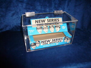 Two Custom Display Cases for Beatles Topps Trading Card Box
