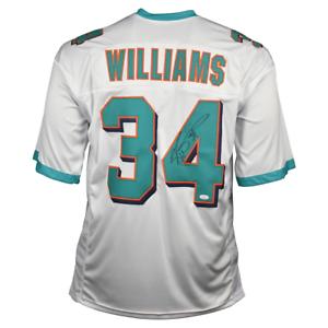 Ricky-Williams-Signed-Miami-Pro-White-Football-Jersey-JSA