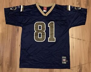 info for b5fc4 63848 Details about Vintage Reebok St Louis Rams Torry Holt Jersey Youth XL  (18-20) Blue