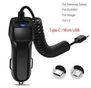 FAST-Rapid-Car-Charger-Type-C-Micro-USB-Charging-For-Android-Samsung-Cell-Phone