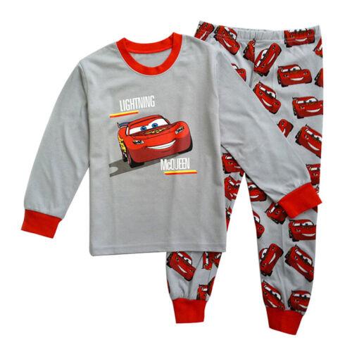 Kids Baby Boys Girls Cartoon Pajamas Pyjamas Pjs Sleepwear Nightwear Outfits Set