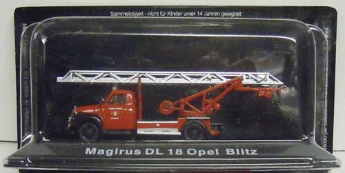 Neuware Restposten Feuerwehr Magirus DL 18 Opel Blitz Atlas 1:72