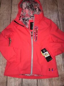 crisantemo Repeler vanidad  Under Armour Red Rage Splashback Storm Rain Jacket Youth Girls NEW | eBay