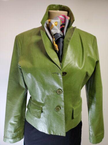 Bagatelle womans sage green leather jacket 8