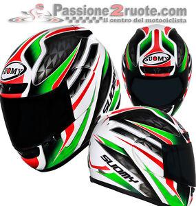 Casco-integrale-Suomy-Apex-Italia-bianco-rosso-verde-taglia-L