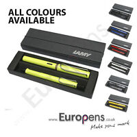 Lamy SAFARI Fountain Ink Cartridge Pen + Ballpoint Ball Pen DELUXE GIFT SET