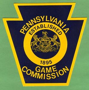 Details about Pa Pennsylvania Game Commission Obsolete NEW Vinyl Standard  Issue Uniform DECAL