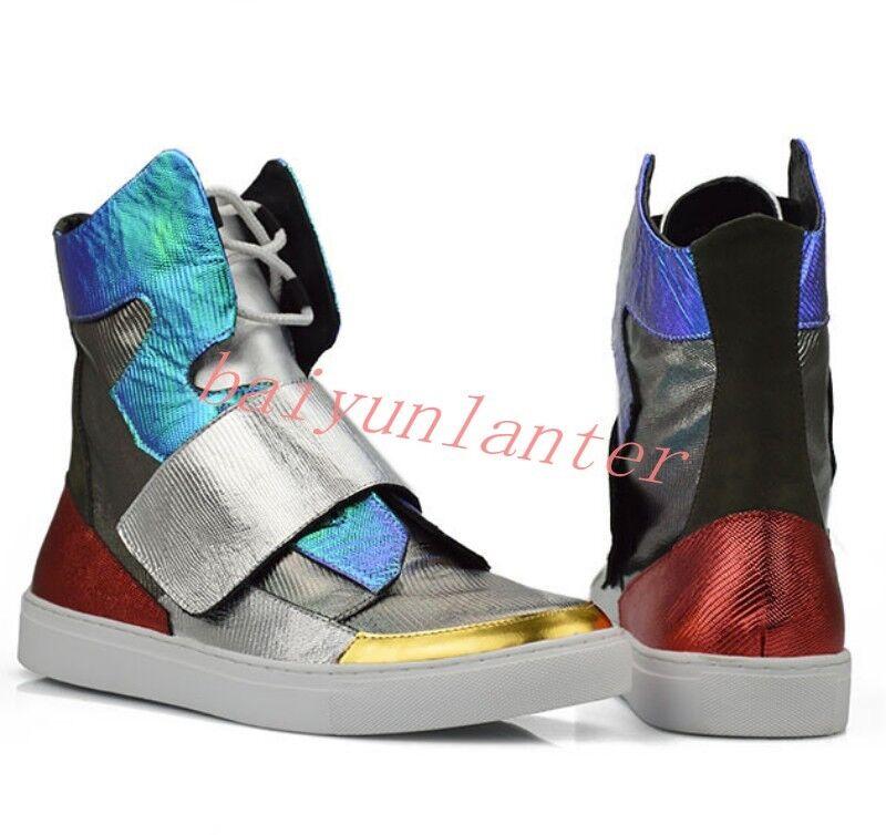 Multiple Color Uomo Fashion  High Top Casual Show Hip-hop Board Shoes SZ