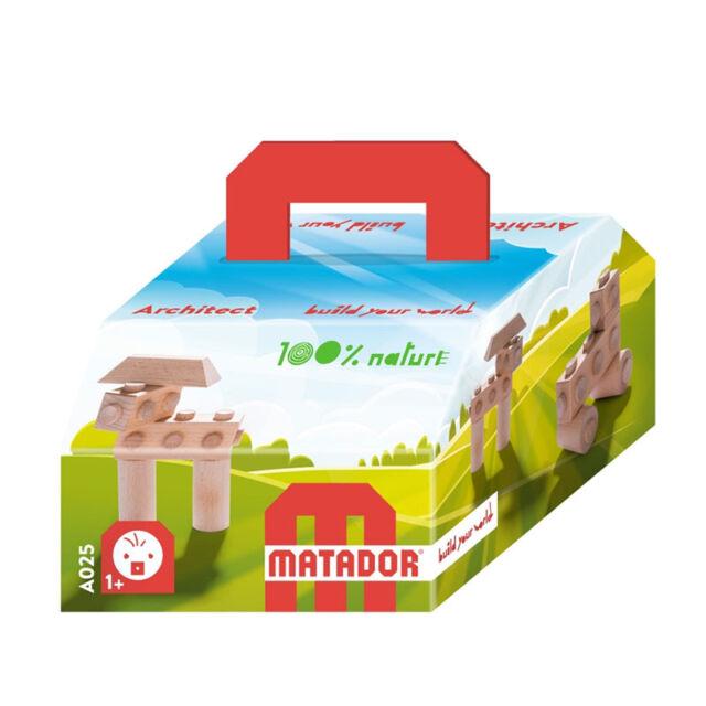 Matador A025 Architekt Baukasten 10-teilig Holz ab 12 Monate NEU #