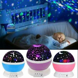 Xmas Gift TOYS FOR 2-10 Year Old Kids LED Night Light Star Moon Constellation US