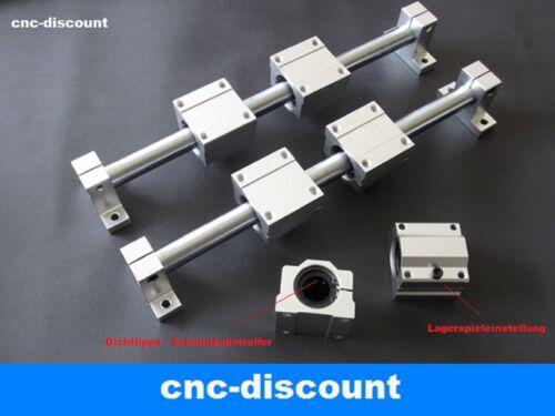 """CNC Linearführung 25x 1200mm Set /""""Blau/""""  Linearwagen Wellen Wellenhalter Fräse"""