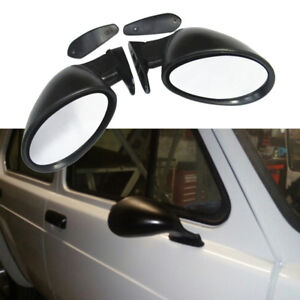Pair Universal Classic Car Door Wing Side Rear View Mirror