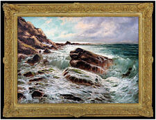 Laszlo Neogrady Original OIL PAINTING on CANVAS Signed Artwork Seascape Wave SBO
