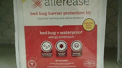 NEW AllerEase Size XL-Twin Zippered Mattress & Pillow ...