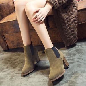 d42bdf1e5629 Autumn Fashion Short Cylinder Shoes High Heel Boots Women s Ankle ...