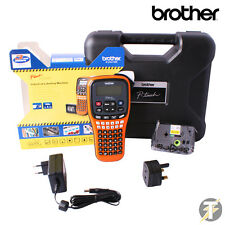 BROTHER PT-E100VP palmare Label Printer con rete elettrica Adattatore & VALIGETTA
