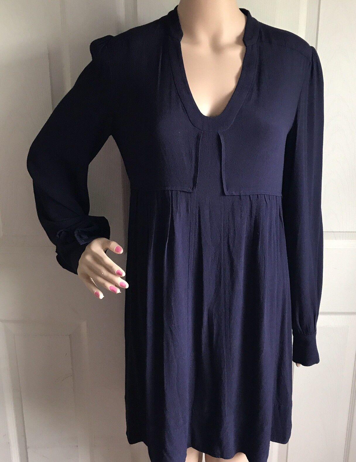 Diane von Furstenberg damen Navy Blau dress Größe 2