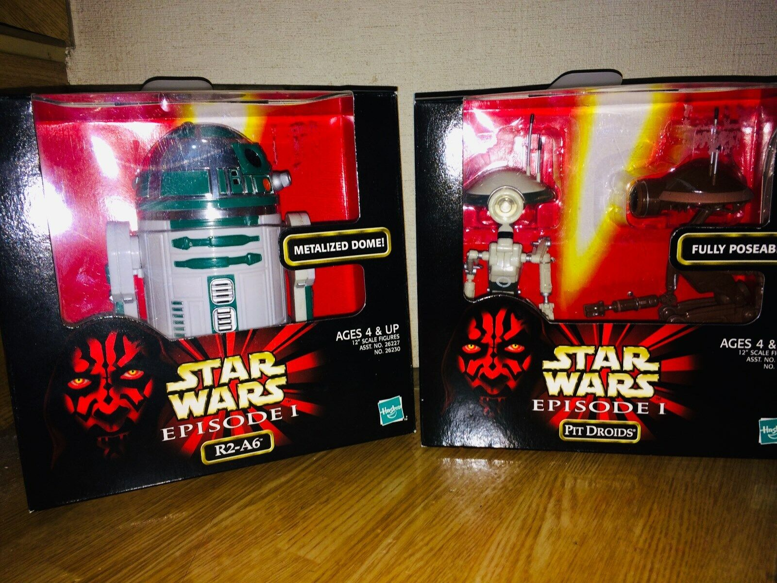 Hasbro Star Wars EPISODE 1 EP1 ACTION COLLECTION R2-D2 R2-A6 & PIT DROIDS