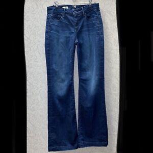 Gap High Rise Dark Wash Pantalones Jeans Para Mujer Talla 27 Ebay