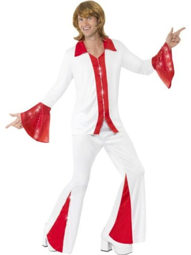 Da Uomo Super Trooper Costume 70 S DISCO Svasato Tuta Costume Outfit