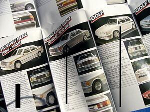 PROSPEKT-KAMAI-SPOILER-ZUBEHOR-1985-MERCEDES-BENZ-AUDI-OPEL-VW-GOLF-BMW-3er-FORD