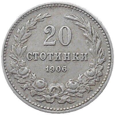 Bulgaria 20 Stotinki 1906 Km#26 Ferdinand I (b-15)