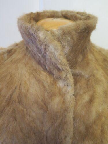 12 Vintage M Fur Light 14 Jacket Euro 42 40 Coat Genuine Brown European Mink Uk qXSwxqrv8