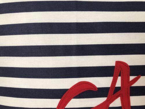 Maritime Pillow Case Pillowcase Decorative Cushion Ahoy Blue//White//Red Striped 40x60