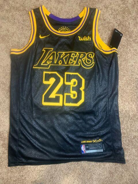 Men Los Angeles Lakers #23 LeBron James Black City Edition Wish ...