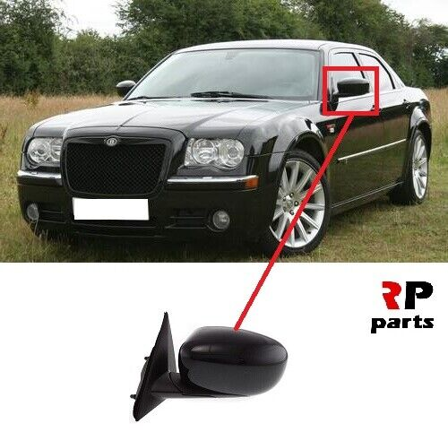 FOR CHRYSLER 300C 04-11 NEW WING MIRROR ELECTRIC HEATED BLACK LEFT N//S LHD