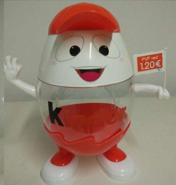 Kinderino Mascot Eggman Kinder Surprise Egg Ltd Edition Portugal Spain 2014 Rare