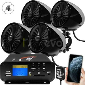 1000W-Motorcycle-Bluetooth-4-Speakers-Stereo-Audio-System-ATV-UTV-Can-Am-Polaris
