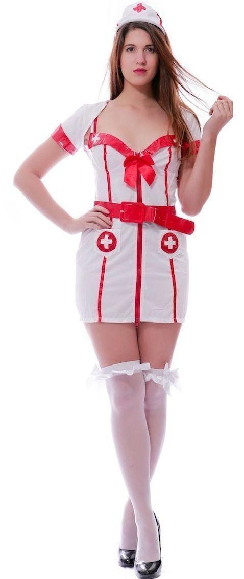 Ladies Naughty Nurse Fancy Dress Costume Outfit