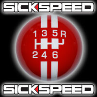 Red/white Rally Stripe Shift Knob For 6 Speed Short Throw Shifter 10x1.5 K13 on sale