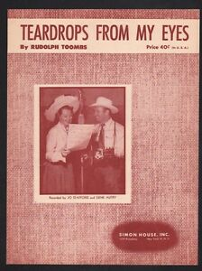 Teardrops-From-My-Eyes-1950-Gene-Autry-and-Jo-Stafford-Sheet-Music