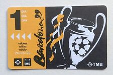 Metro Ticket 1999 Champions League Final Man Utd Treble Season Manchester United