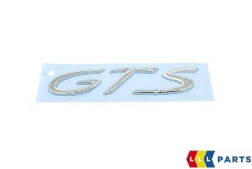 NEW GENUINE PORSCHE PANAMERA 10-16 REAR TRUNK CHROME GTS INSCRIPTION BADGE