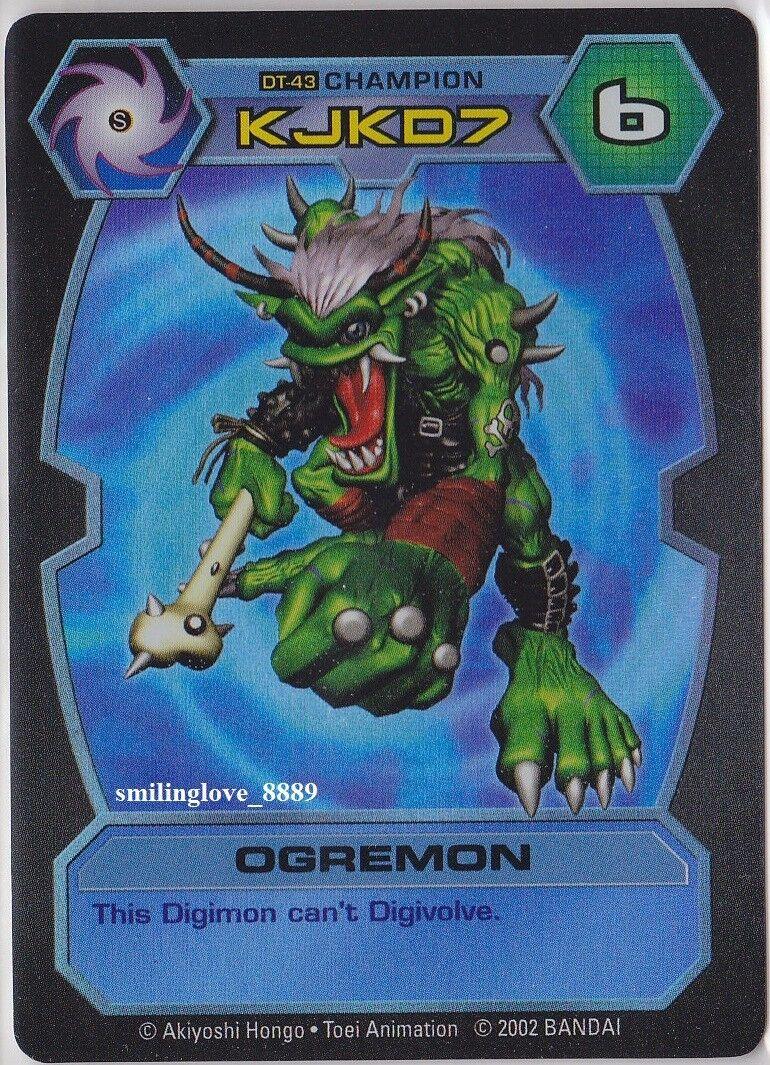 TOEI TOEI TOEI D-TECTOR HOLO FOIL RARE CARD - DT-43 OGREMON Champion Level Digimon NM-Mint d7a621