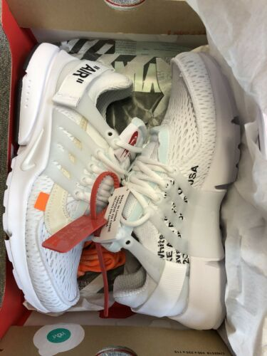 ricevuta autentico Presto Air con Off white bianco X Nike Uk8 Deadstock Us9 wFcHxRPq