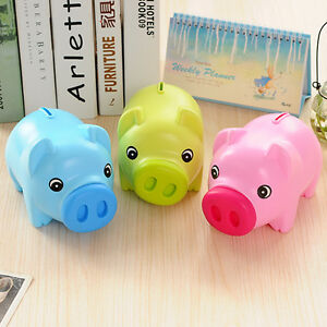 BLUE-Plastic-Piggy-Bank-Coin-Money-Cash-Collectible-Saving-Box-Toy-Kids-Gift