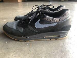 2007-Nike-Air-Max-1-Tweed-Pack-sz-13-Black-309717-042