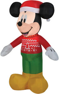 CHRISTMAS-SANTA-DISNEY-MICKEY-MOUSE-UGLY-SWEATER-AIRBLOWN-INFLATABLE-3-5-FEET