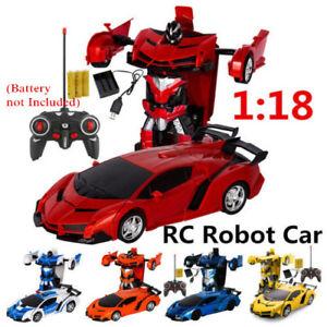 1:18 Transformer RC Robot Car Remote Control 2 IN 1 Kids